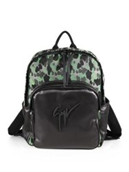 Giuseppe Zanotti Camo Print Leather Backpack