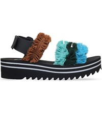 Suecomma Bonnie Frill Detail Sports Flatform Sandals Blue Other