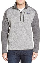 Patagonia Men's 'Better Sweater' Quarter Zip Pullover Nickel W Forge Grey