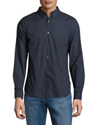 French Connection Long Sleeve Dotted Shirt Marine Blue