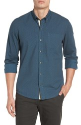 W.R.K Men's Reworked Cracked Ice Sport Shirt Teal