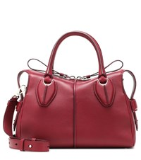 Tod's D Styling Small Leather Shoulder Bag Red