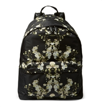 Givenchy Floral Print Canvas Backpack Black