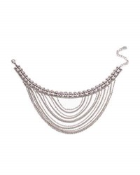 Dannijo Odion Layered Chain Statement Necklace Pink