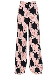 Msgm Floral Printed Cady Pants