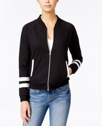 Almost Famous Juniors' Colorblocked Bomber Jacket Black