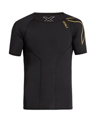 2Xu Elite Compression Short Sleeved Performance Top Black Multi