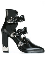 Toga Buckled Front Ankle Boots Black