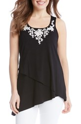 Karen Kane Women's Embroidered Asymmetrical Tank