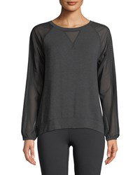 The North Face Vision Mesh Long Sleeve Pullover Top Black Gray