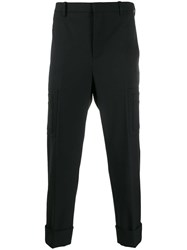 Neil Barrett Cropped Tapered Trousers Black