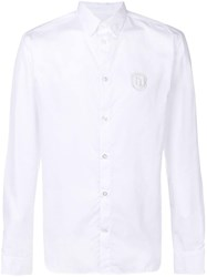 Frankie Morello Patch Embellished Shirt White