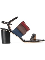Paul Smith Strappy Block Heel Sandals Women Leather 37 Black