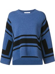 Derek Lam 10 Crosby Shift Striped Sweater Blue