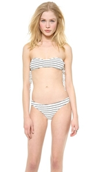 Tyler Rose Swimwear Dane Bandeau Bikini Top Black White
