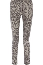 Current Elliott The Ankle Skinny Printed Mid Rise Skinny Jeans Animal Print