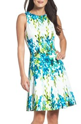 Maggy London Women's Print Fit And Flare Dress