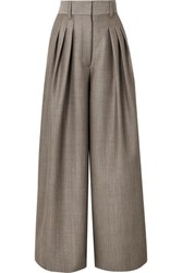 Marc Jacobs Wool And Mohair Blend Wide Leg Pants Gray