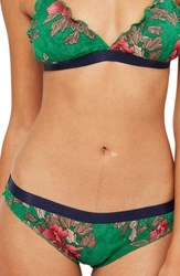 Topshop Penelope Floral Mini Knickers Green Multi