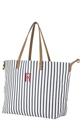 Cathy's Concepts Monogram Overnight Tote Blue Blue R
