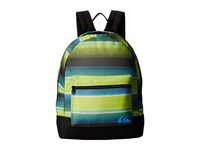 Quiksilver Day Burner Backpack Ag47 Vertigo Stripe Tarmac Backpack Bags Black