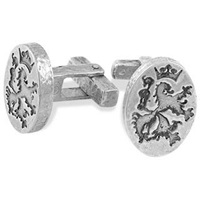 Torrini Sterling Silver Crest Cufflinks