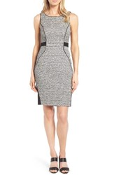 Classiques Entierr Women's Entier Tweed And Ponte Knit Sheath Dress