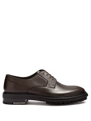 Lanvin Leather Derby Shoes Brown
