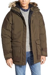 Fjall Raven Men's Fj Llr Ven 'Kyl' Waterproof Goose Down Hooded Parka With Detachable Faux Fur Trim