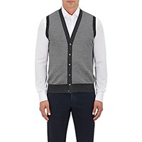 Luciano Barbera Men's Cashmere Silk Vest Grey
