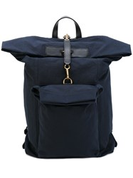 Mismo Large Backpack Men Polyamide Polyester One Size Blue