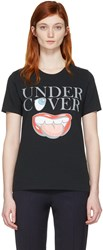 Undercover Black Mouth Logo T Shirt