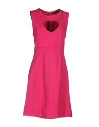 Twin Set Jeans Short Dresses Fuchsia