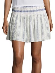 Bec And Bridge Woven Tales Skirt Ivory Blue