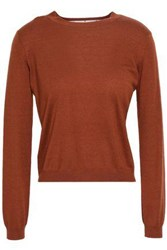 Red Valentino Redvalentino Woman Cashmere And Silk Blend Sweater Brown