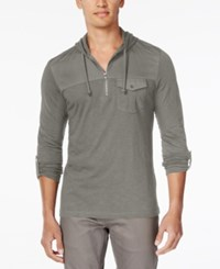Inc International Concepts Men's Travel Long Sleeve Hoodie Shirt Only At Macy's City Taupe