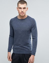 Selected Homme Crew Neck Jumper Ombre Blue Navy