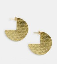 People Tree Handmade Cut Out Disc Earrings Gold
