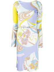 Emilio Pucci Mid Length Printed Dress Yellow