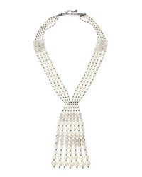 Lydell Nyc Crystal And Simulated Pearl Statement Y Drop Necklace Multi