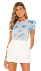 Generation Love Kelly Puff Tee In Blue. Blue And White