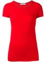 Stefano Mortari Short Sleeve Fitted T Shirt Red