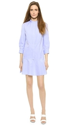 Nina Ricci Long Sleeve Shirtdress Blue