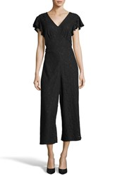 Eci Crop Lace Jumpsuit Black
