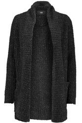 Line Miranda Boucle Knit Cardigan Black