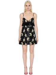 Giamba A Line Tigers Brocade And Lace Dress