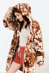 Without Walls Cocoon Tie Dye Jacket Rust
