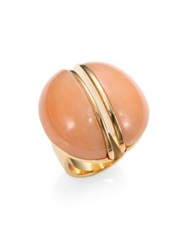 Chlo Ellie Pink Marble Cocktail Ring Gold Pink