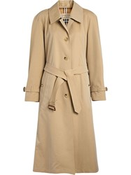 Burberry Tropical Side Slit Trench Coat Neutrals
