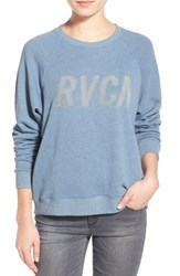 Junior Women's Rvca 'Jagged' Tonal Logo Sweatshirt